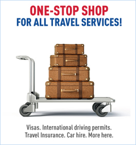 For all travels services visas international driving permits click here