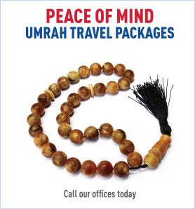 For Umrah travel packages call our offices today
